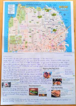 Städtekarte mit Gutschein
