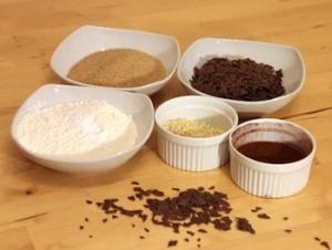 Zutaten für Brownie Backmischung im Glas