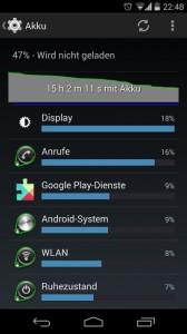 Google Nexus 5 Akkulaufzeit