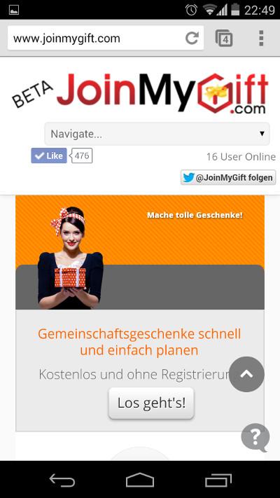 Google Nexus 5 JoinMyGift.com
