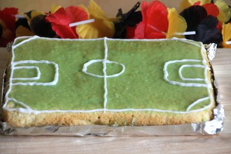 Fußball-Kuchen zur WM