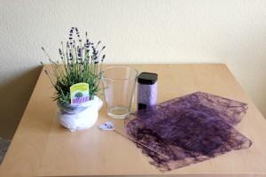 Lavendel-Mitbringsel basteln