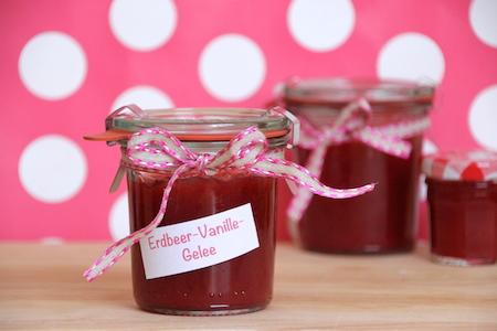Erdbeer-Vanille-Gelee selber machen