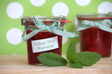 DIY Erdbeer-Minz-Marmelade selber machen rezept