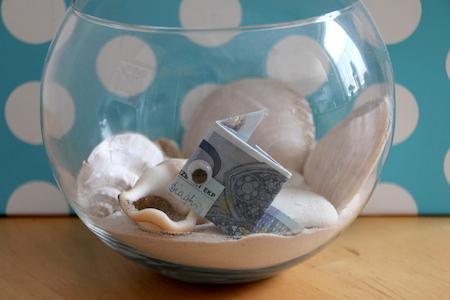 geldgeschenk verpacken fisch-aquarium