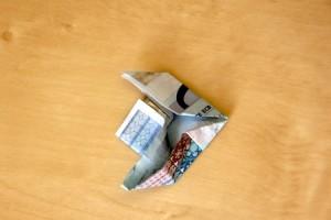 geldschein zu fisch falten 13