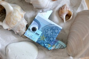 geldgeschenk verpacken fisch in aquarium