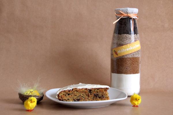karottenkuchen backmischung im glas