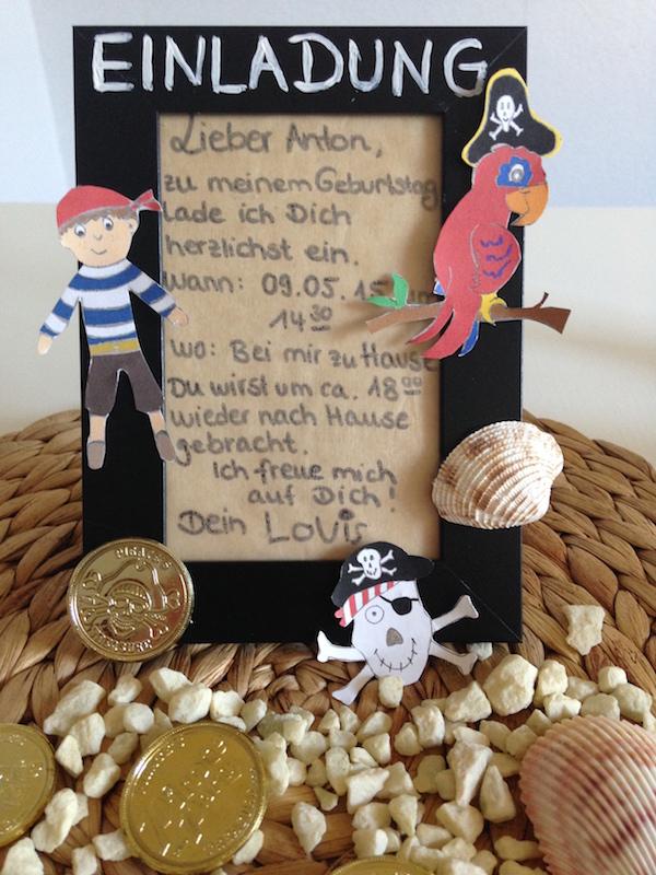 Piraten-Kindergeburtstag: Einladung selber machen – Flaschenpost ...