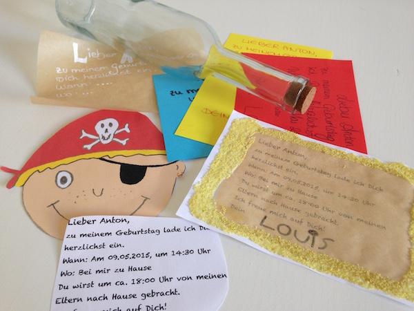 """... Kindergeburtstag: Einladung selber machen – Bilderrahmen"""" benutzen"""