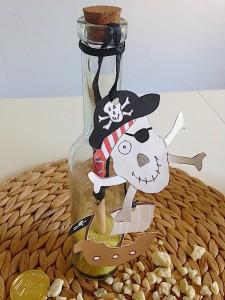 piraten einladung im glas