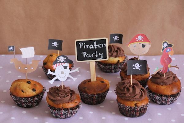 Piraten Cupcakes Rezept und Anleitung