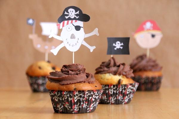 piraten kindergeburtstag schoko cupcakes selber machen. Black Bedroom Furniture Sets. Home Design Ideas