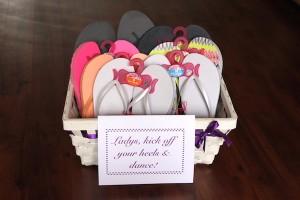 DIY Hochzeits - Tipp Nr. 2: Die Flip-Flop-Kiste für Frauen