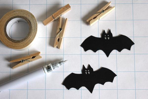 Fledermaus DIY Deko selber machen inkl. Druckvorlage