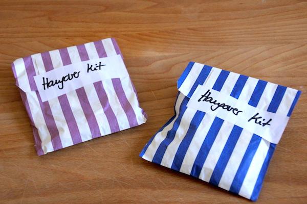 Mini Notfall Hang-over kit für den Tag nach der Hochzeit für Gäste
