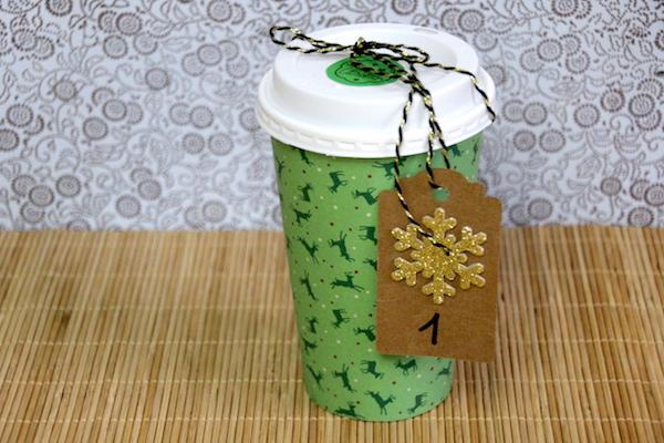 Adventskalender aus coffee to go Bechern basteln