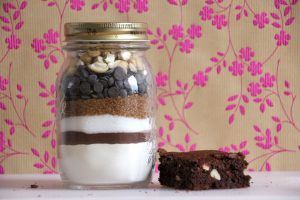 Cashew Brownie Backmischung im Glas