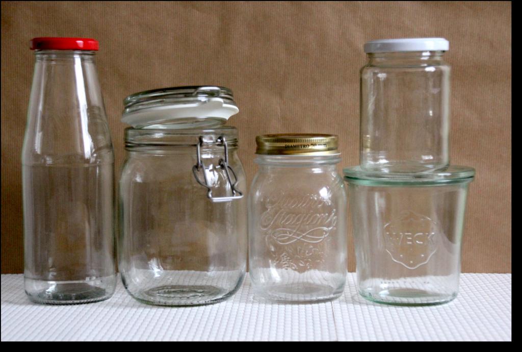 Gläser für Backmischungen im Glas