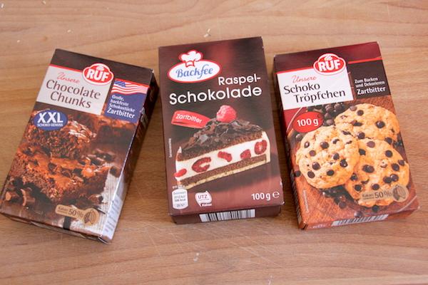 schokoladen sorten zum backen