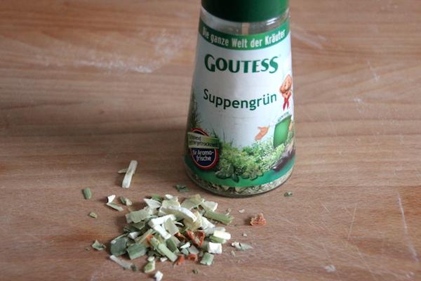 Suppengruen für Zutatenmix im Glas