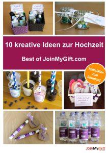10 kreative Ideen zur Hochzeit: Best of JoinMyGift.com - inkl. Materialien zum kostenlosen Download