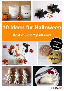 10 schrecklich leckere Rezepte & tolle Deko-Tipps für Halloween: Best of JoinMyGift.com - inkl. Materialien zum kostenlosen Download