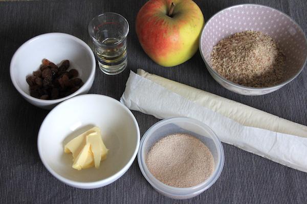Apfel Nuss Zimtschnecken Zutaten