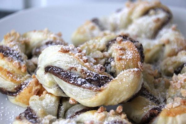Blätterteig Schnecken mit Nutella