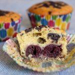 Kirsch Muffins mit Schokosplittern Rezept