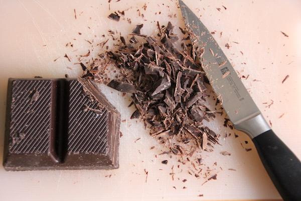 Schokoladensplitter herstellen