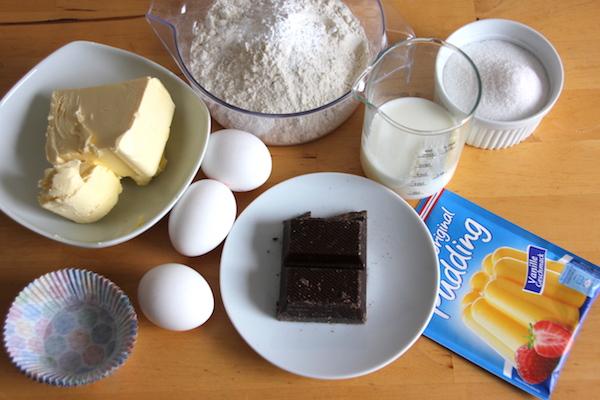 Kirsch Muffins mit Schokosplittern Zutaten