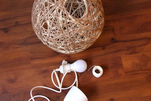 DIY Fadenlampe selber machen Anleitung