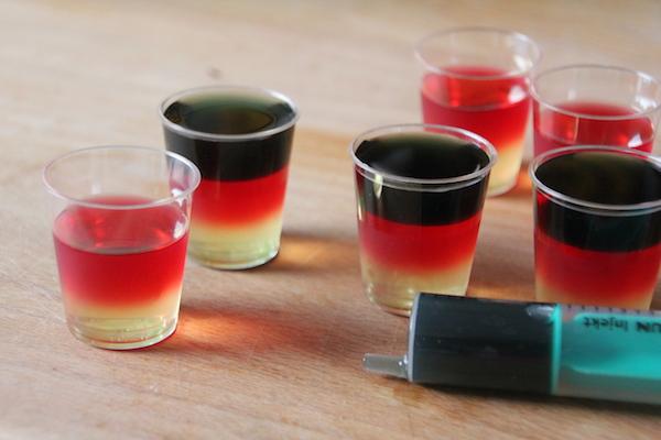 Deutschland WM EM Wodka Shots Anleitung